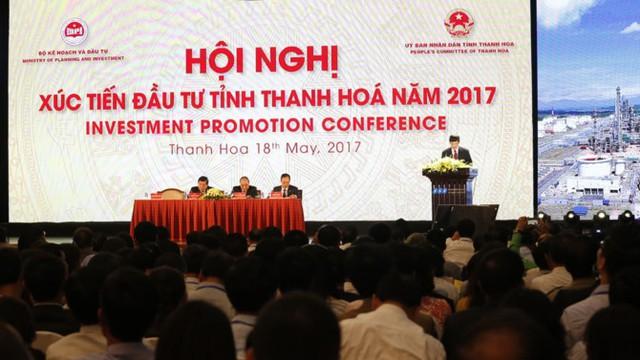 """""""Hội nghị xúc tiến đầu tư tỉnh Thanh Hóa năm 2017"""" với sự tham dự của lãnh đạo nhà nước cùng hơn 1200 nhà đầu tư trong và ngoài nước."""