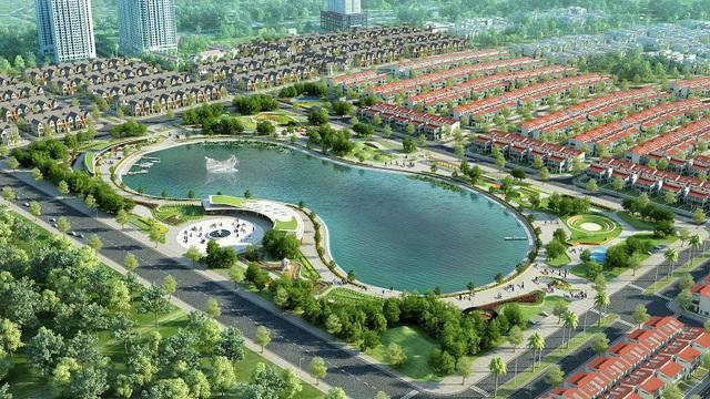 An Phú cửa hàng-villa thừa hưởng không gian sinh thái xanh của hồ Bách Hợp Thủy rộng hơn 6ha mặt nước.