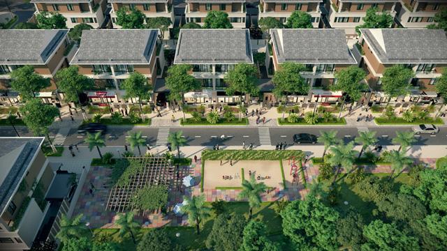An Phú Shop-villa áp dụng thiết kế đa dụng, với 3 tầng và 1 tầng tum, khắc phục được nhược điểm của nhà phố kiểu cũ.