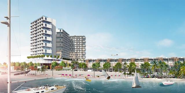 Khu Vietpearl City tọa lạc tập trung rất đông du khách với các hoạt động thể thao giải trí ven biển.