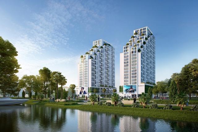 Phối cảnh tổng thể Khu căn hộ cao cấp LuxGarden (Quận 7).