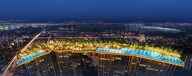 """Bể bơi vô cực, điểm nhấn đắt giá của Sunshine City,""""resort trong thành phố""""."""