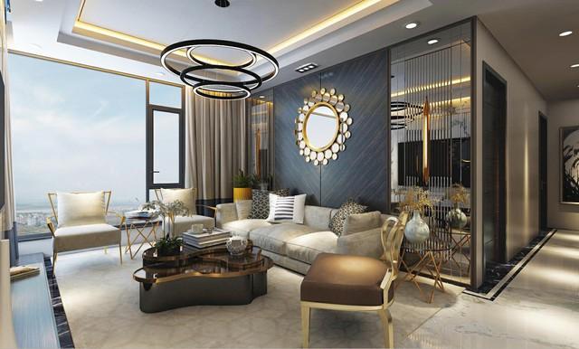 Căn hộ với nội thất dát vàng và tầm nhìn panorama tuyệt vời tại Sunshine City.