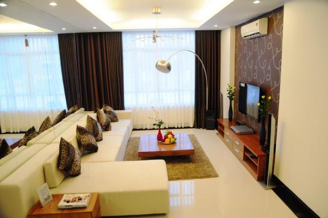 Không gian rộng thoáng trong từng căn hộ chung cư Samland.