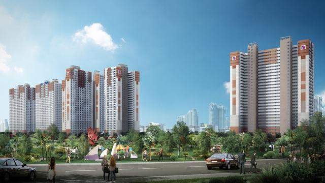 Booyoung Vina tối ưu hóa qui mô sử dụng trong mỗi căn hộ cao tầng.