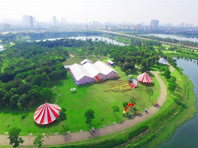 Công viên Yên Sở, 1 trong các địa điểm vui chơi, sinh hoạt ngoài trời nổi tiếng nhất Hà Nội.