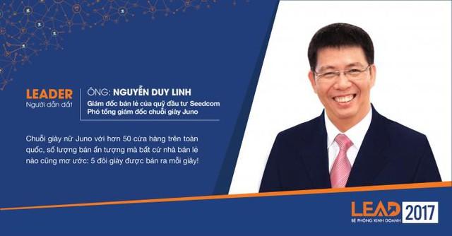 3. Ông Nguyễn Duy Linh – Giám đốc phân phối lẻ của quỹ đầu tư Seedcom; Phó tổng giám đốc chuỗi giày Juno.