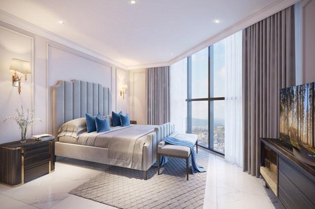 Hình ảnh bên trong xe minh họa căn hộ cao tầng 3 phòng ngủ ở T&T Victoria.