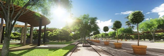 Không gian xanh trong Khu thành thị Dương Nội 200ha.