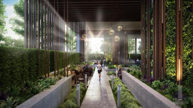Lancaster Lincoln được kiến trúc trung hòa uyển chuyển giữa 3 nhân tố: không gian sống, không gian xanh và không gian tiện ích.