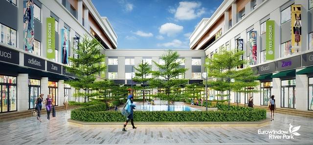 Các sản phẩm nhà phố thương mại của Eurowindow River Park nằm ở địa điểm đắc địa, cư dân đông đúc.