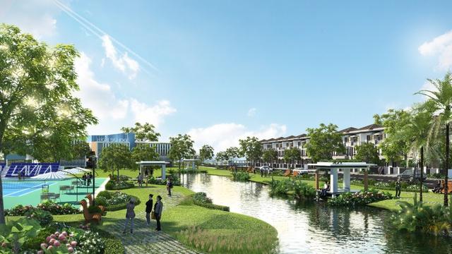 LAVILA thừa hưởng công viên bờ sông 1ha và công viên hồ phong cảnh 4,6ha có kiến trúc cao cấp và duy nhất, lấy ý tưởng từ công viên nổi tiếng Keukenhof (Hà Lan).