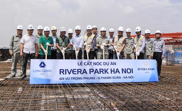 Dự án Rivera Park Hà Nội đã cất nóc và chuẩn bị bàn giao tháng 05/2018.