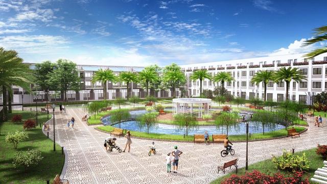 Hệ thống 5 công viên và quảng trường có tới cho cư dân không gian sống trong lành.