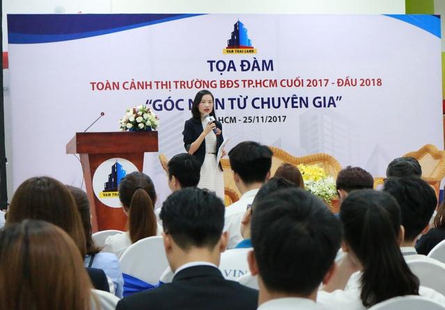 Bà Dương Thùy Dung- Giám đốc bộ phận Nghiên cứu phân khúc và giải đáp phát triển của CBRE Việt Nam.