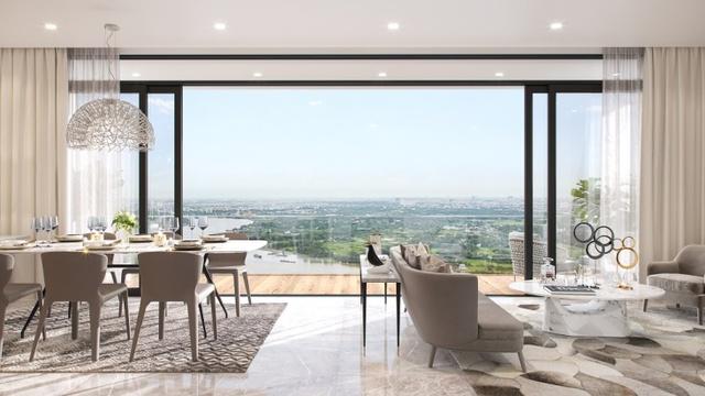Thiết kế nội thất tinh tế, không gian sống rộng rãi, ngập tràn ánh sáng tự nhiên. (Hình phối cảnh).