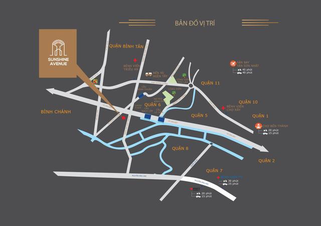 Bản đồ vị trí dự án Sunshine Avenue.