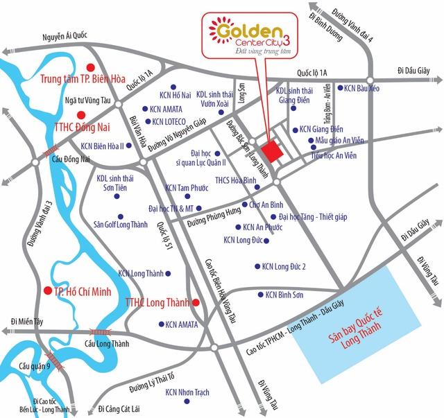 Từ Golden Center City 3 dễ dàng kết nối nhanh chóng với tất cả các khu vực.