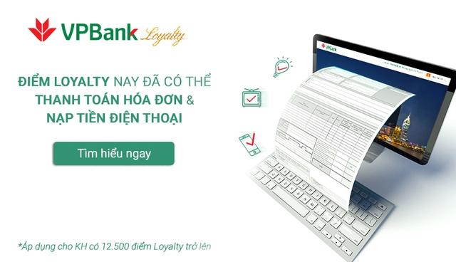 VPBank ra mắt tính năng thanh toán hóa đơn bằng điểm thưởng iCash
