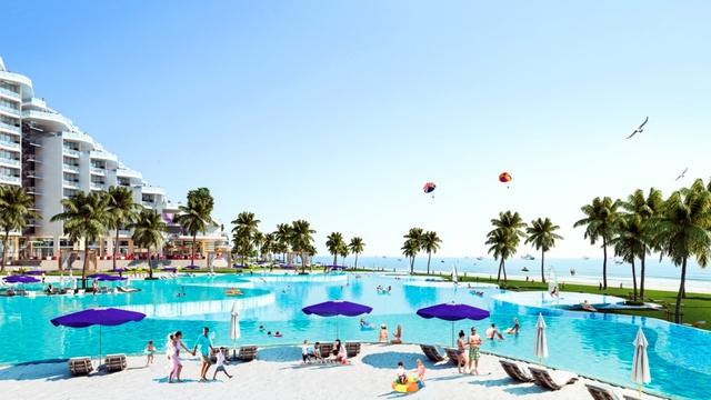 Dự án có bể bơi dài nửa km bên bờ biển bãi Dài, Cam Ranh - Ảnh 1.