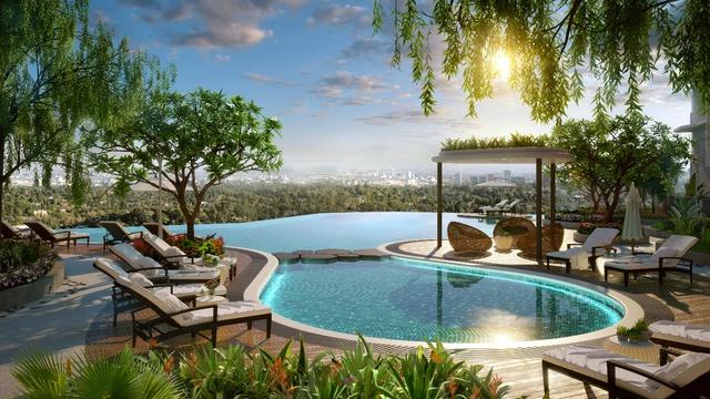 Gamuda Gardens cất nóc dự án công trình căn hộ cao tầng cao cấp The ZEN Residence - Ảnh 1.