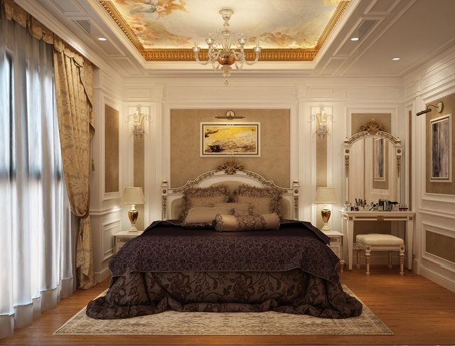 Phòng ngủ được thiết kế sang trọng, tinh tế.