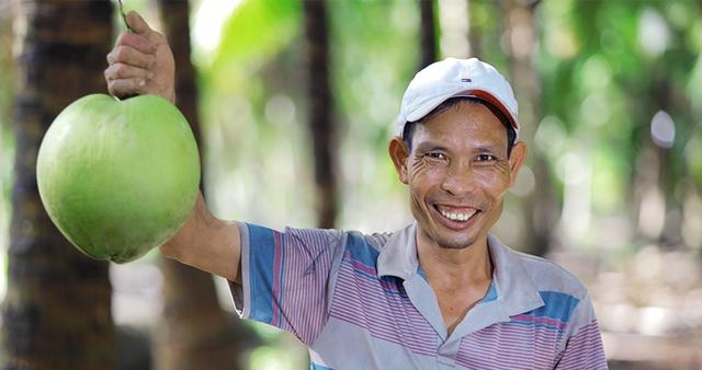 """Betrimex triển khai dự án """"10.000 ha vườn dừa organic cho nông dân"""" - Ảnh 1."""