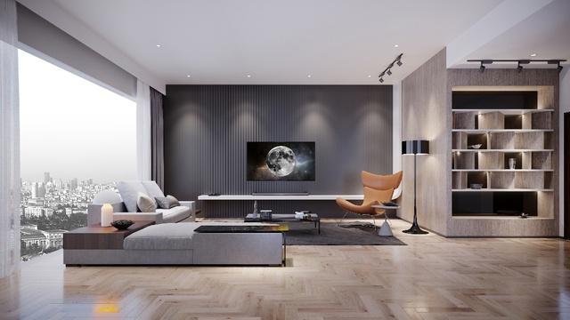 3 phong cách phòng khách sang trọng nhờ TV siêu mỏng - Ảnh 1.