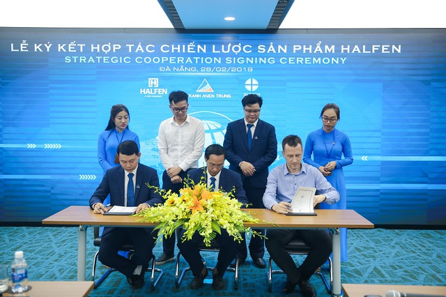Đất Xanh Miền Trung ký kết hợp tác chiến lược sản phẩm với công ty Halfen - Ảnh 1.