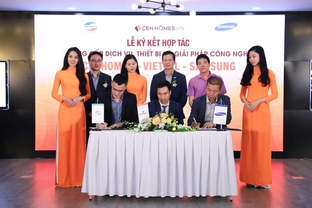 Hai ông lớn Viettel và Samsung bắt tay hợp tác với website BĐS Cenhomes.vn - Ảnh 2.