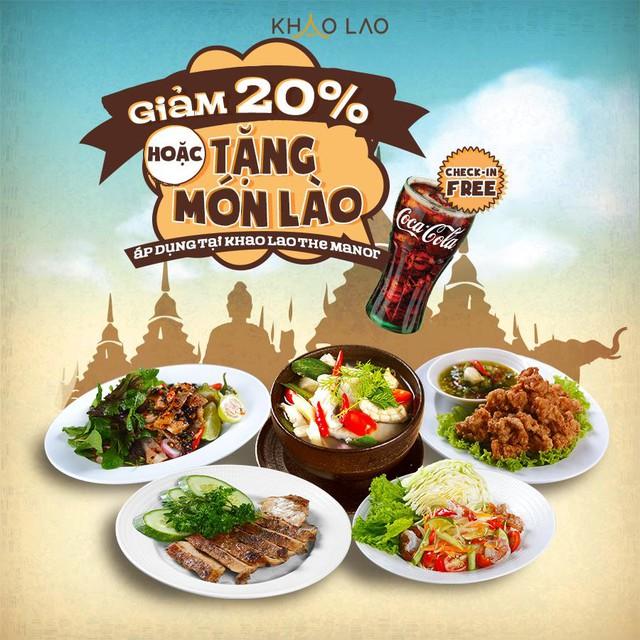 Khao Lao - Ẩm thực Lào tặng ngàn ưu đãi khai trương tại The Manor Mỹ Đình