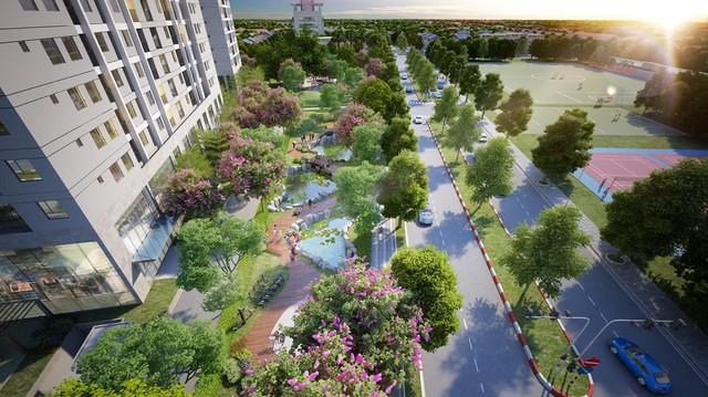 Dự án có nhiều dao động xanh cho cư dân tận hưởng.