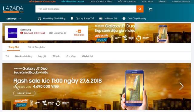 """Sở hữu Galaxy J7 Duo với giá 4,69 triệu vào ngày 27/6 trên Lazada với """"Deal chớp nhoáng"""""""