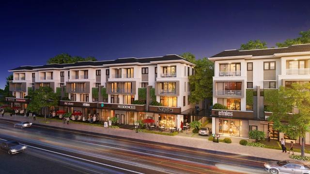 Trái ngược có dạng nhà phố hình ống theo kiểu cũ, Lavila Đông Sài Gòn có lối thiết kế đậm chất Pháp có một vài ô cửa kính rộng.