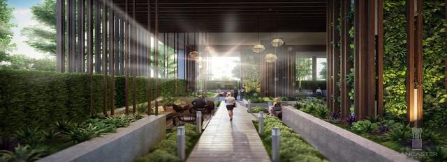 Mảng xanh mát của Lancaster Lincoln từ khu vườn Địa Đàng 1.000 m2.