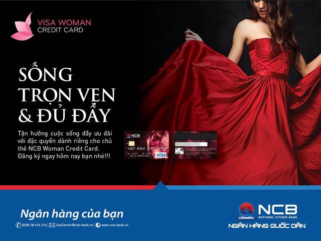 Mua sắm thỏa thích với thẻ tín dụng NCB Visa Woman credit card - Ảnh 1.