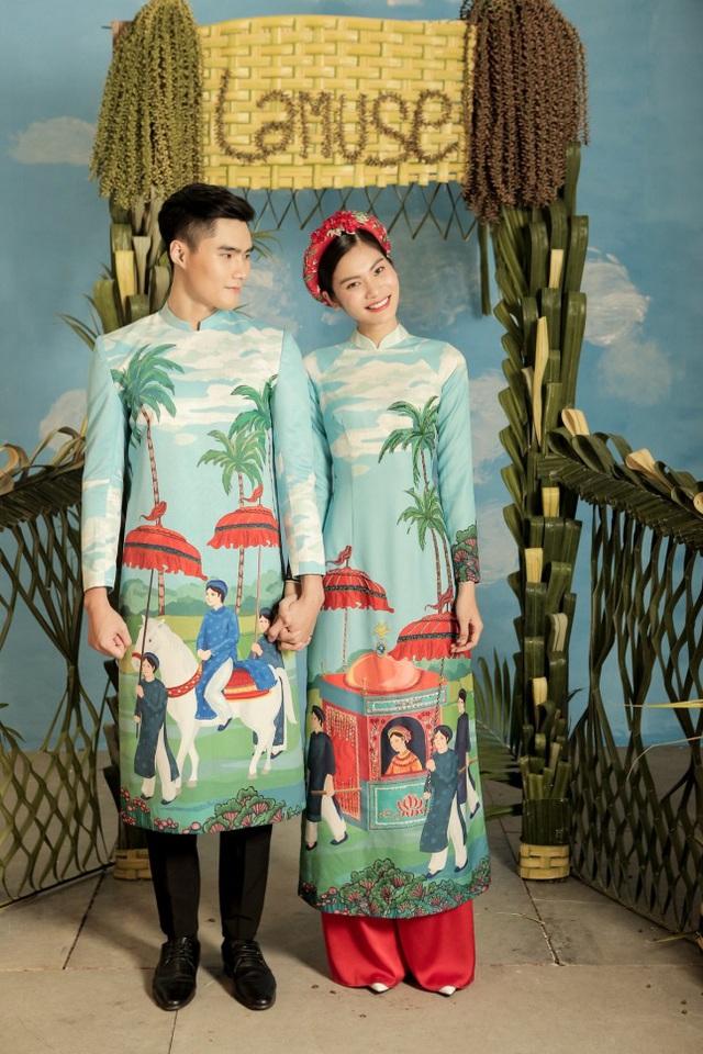 2 quán quân Next Top Model nổi bật với BST áo dài ngày cưới - Ảnh 4.