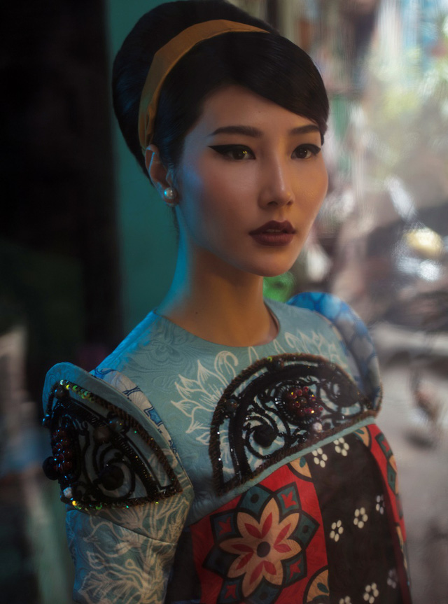 Cặp đôi mỹ nhân Cô ba Sài Gòn đẹp hoài cổ với trang phục của Thuỷ Design House - Ảnh 6.