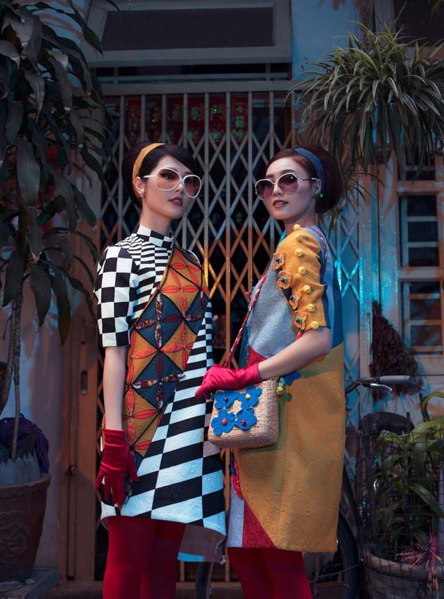 Cặp đôi mỹ nhân Cô ba Sài Gòn đẹp hoài cổ với trang phục của Thuỷ Design House - Ảnh 9.