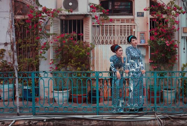 Cặp đôi mỹ nhân Cô ba Sài Gòn đẹp hoài cổ với trang phục của Thuỷ Design House - Ảnh 11.