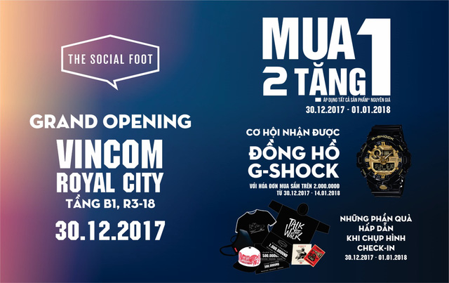 Đếm ngược đến ngày khai trương The Social Foot - Vincom Royal City Hà Nội cùng nhiều phần quà hấp dẫn - Ảnh 5.