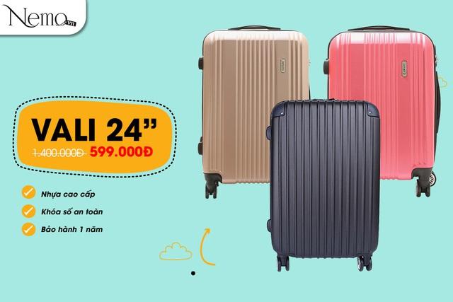 Sắm vali đi du lịch, giá cực sốc chỉ từ 444.000 đồng - Ảnh 1.