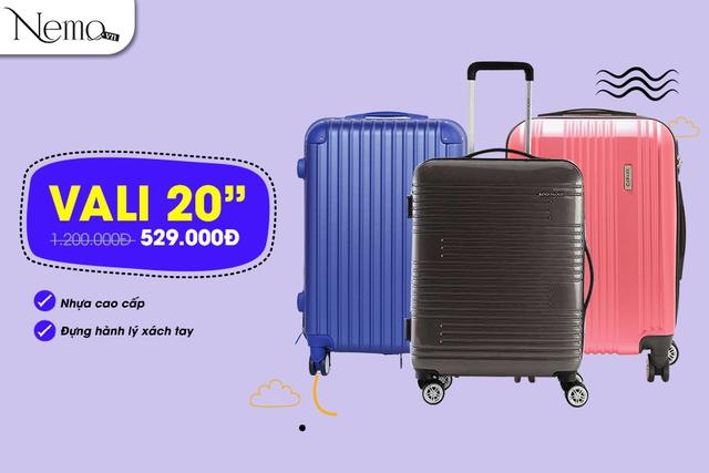 Sắm vali đi du lịch, giá cực sốc chỉ từ 444.000 đồng - Ảnh 2.